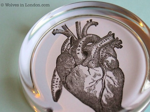 Heart paperweight how-to