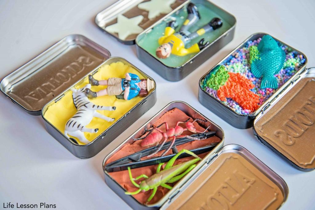 Mini sensory bin gifts how-to