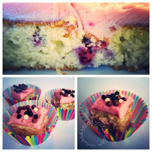Almond and raspberry love cake
