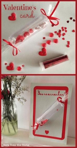 Valentine cracker card