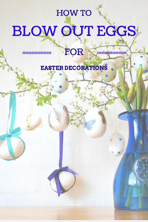 How To Hang Blown Out Easter Eggs from a plant