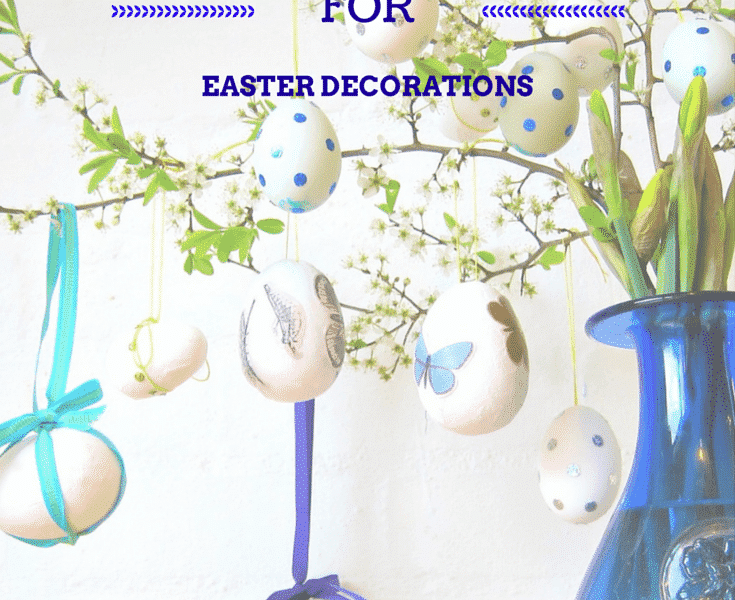 How to blow out eggs for Easter decorations