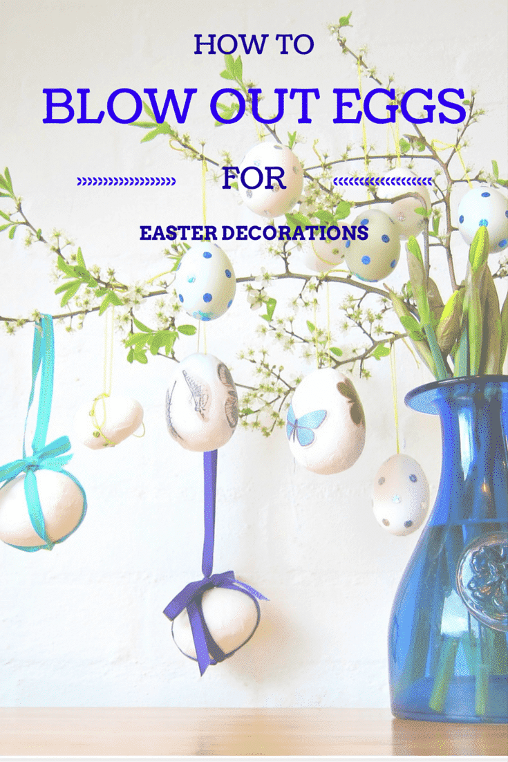How to blow-out eggs for Easter decorations