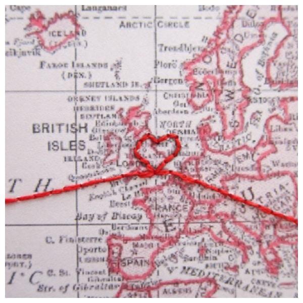 personalised big trip map gift