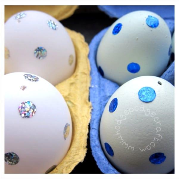 spotty Spring Easter eggs