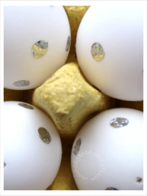 blow-out eggs for Easter decorations