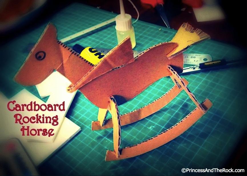 cardboard rocking horse