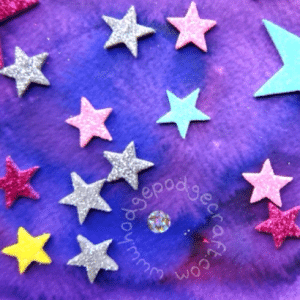 Liquid watercolour galaxy (craft ideas for kids)
