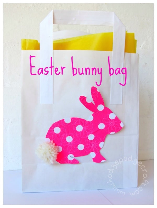 How to make an easy Easter bunny bag
