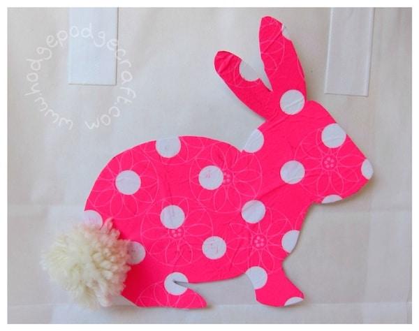 Easter bunny bag pompom tail