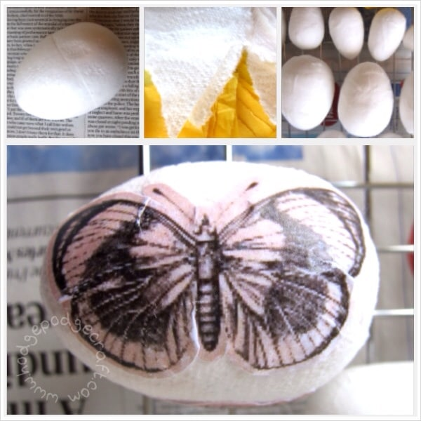 how to make decoupage eggs