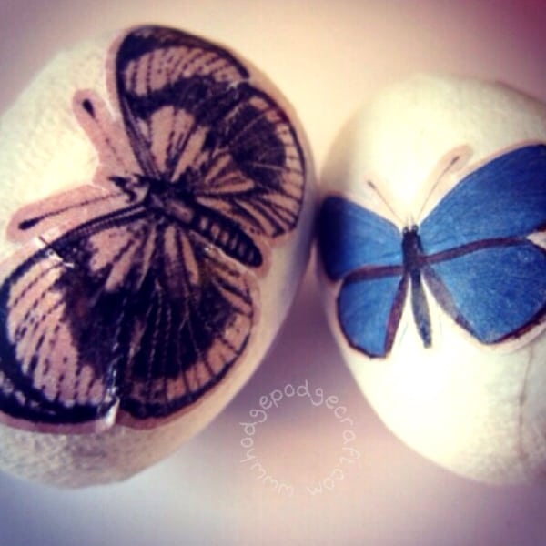 how to decoupage eggs for Easter