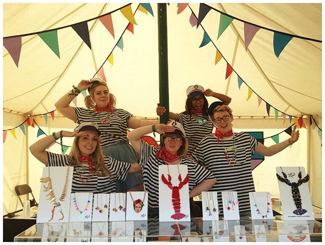 Tatty Devine team Bestival