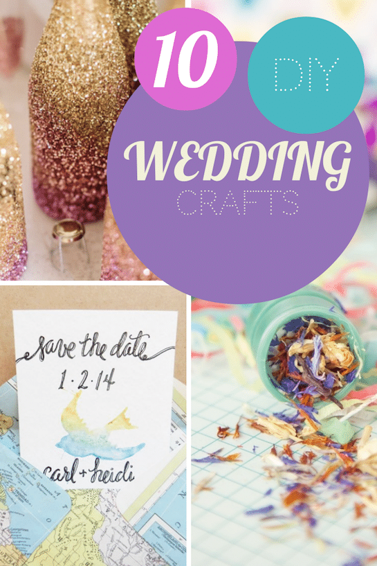 simple craft ideas for a DIY wedding