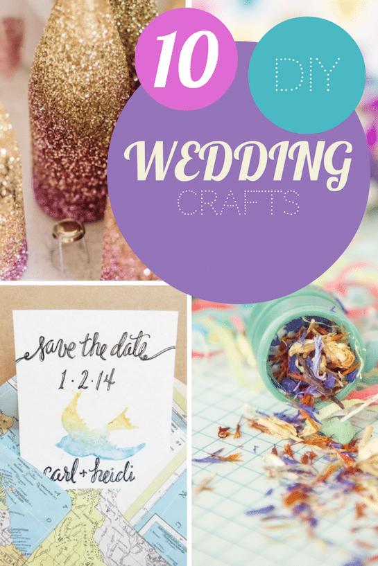 simple craft ideas for a DIY wedding