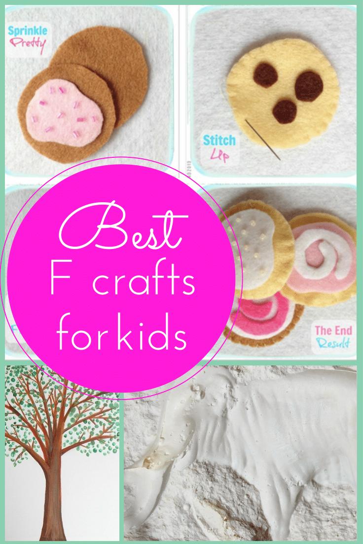 Best F crafts for kids tutorials