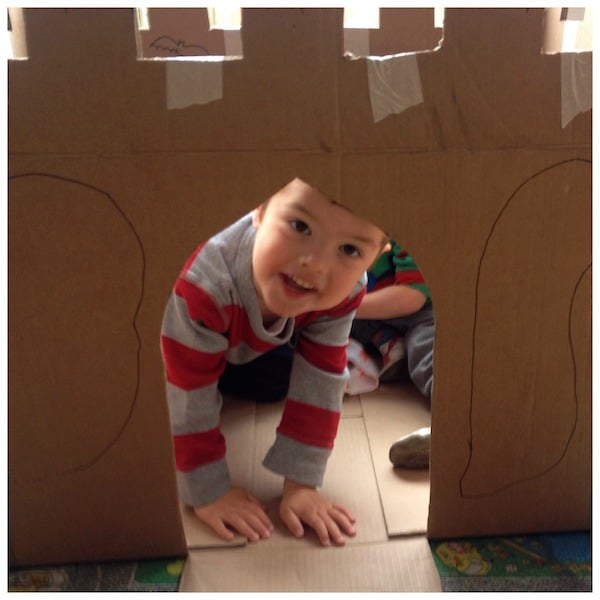 The Cardboard Castle (a recycled photo story)