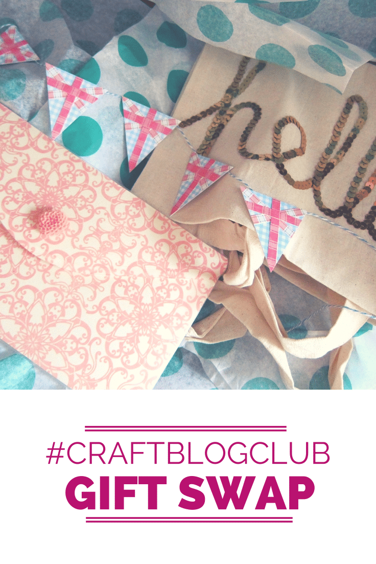 #CraftBlogClub gift swap goodies