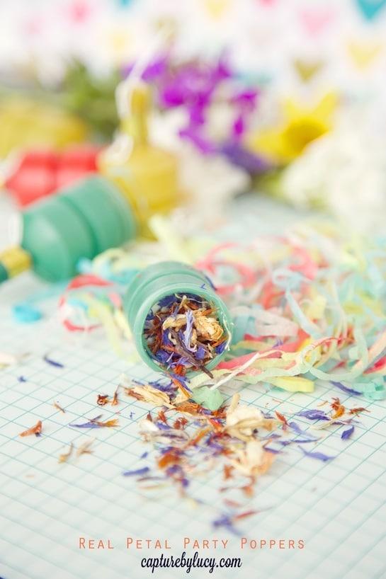 DIY Petal Confetti Party Poppers