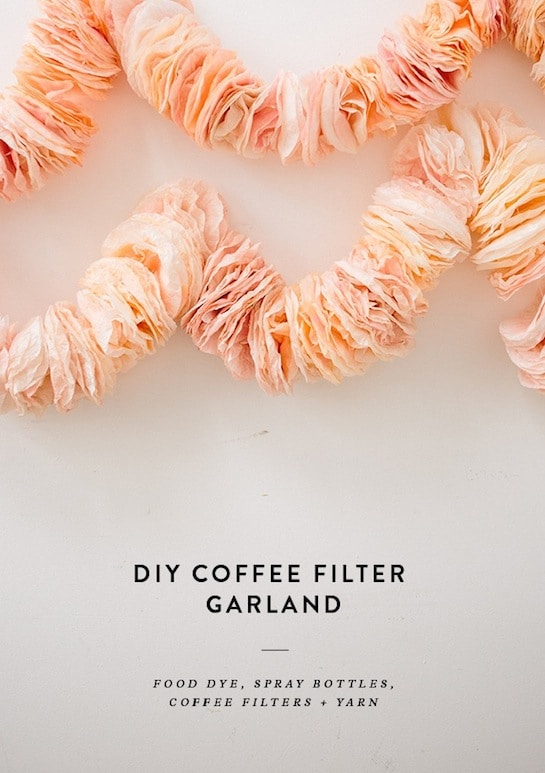 DIY coffee filter garland