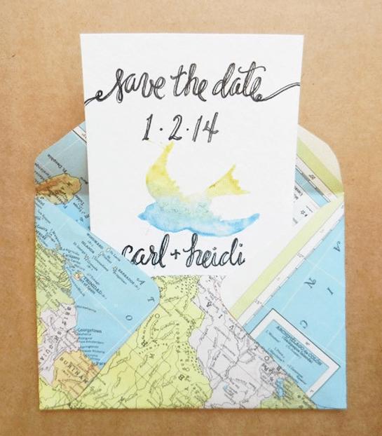 DIY map envelopes