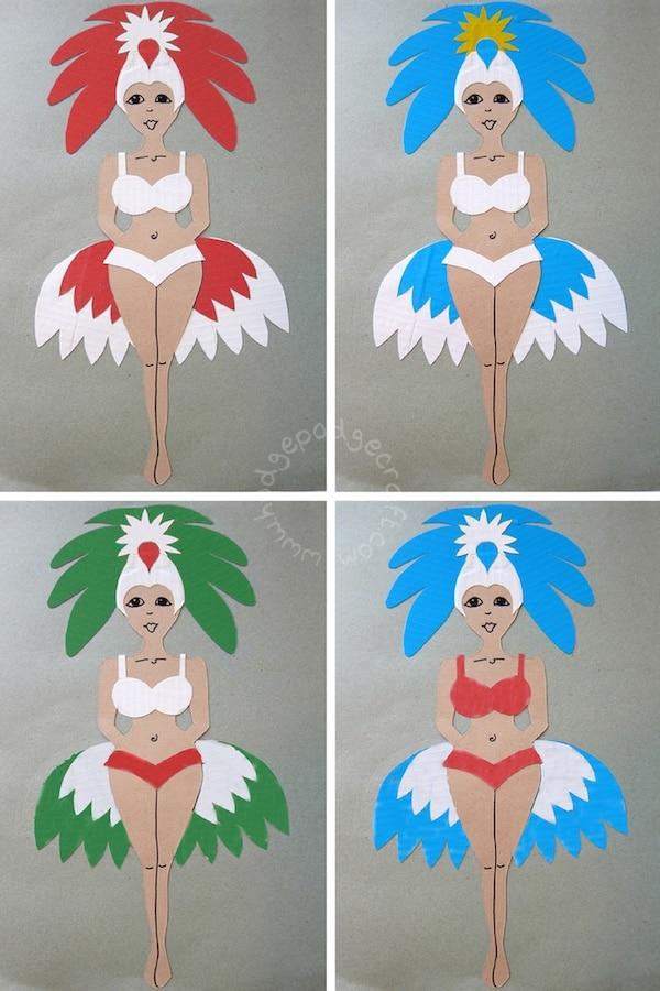 Brazilian Samba Dancer Craft