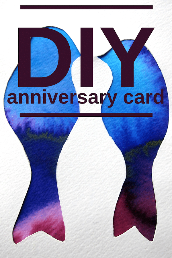 DIY anniversary card