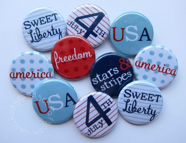 4th July party badges