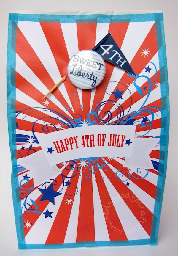 4th July party bag for grown ups