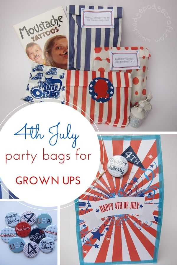 4th July party bags PIN
