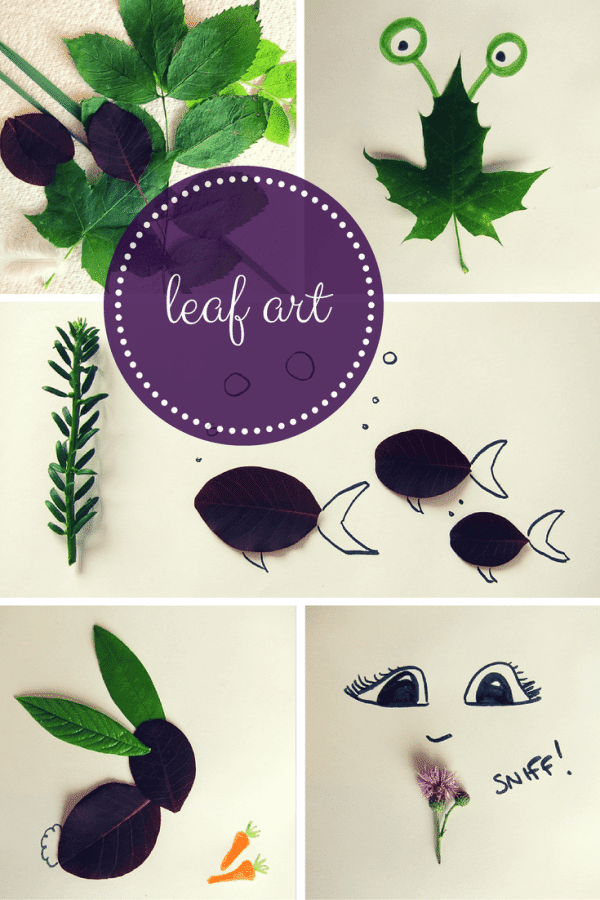 leaf art craft ideas for kids