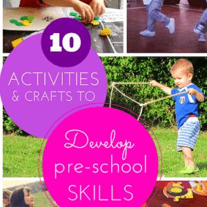 10 easy crafts & activities to prepare kids for pre-school