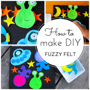 How to make space-themed DIY fuzzy felt
