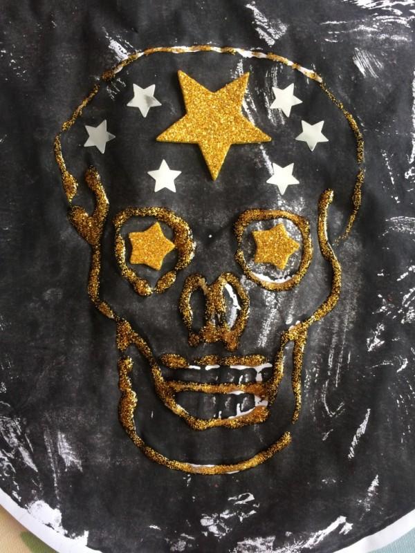 styrofoam skull printing