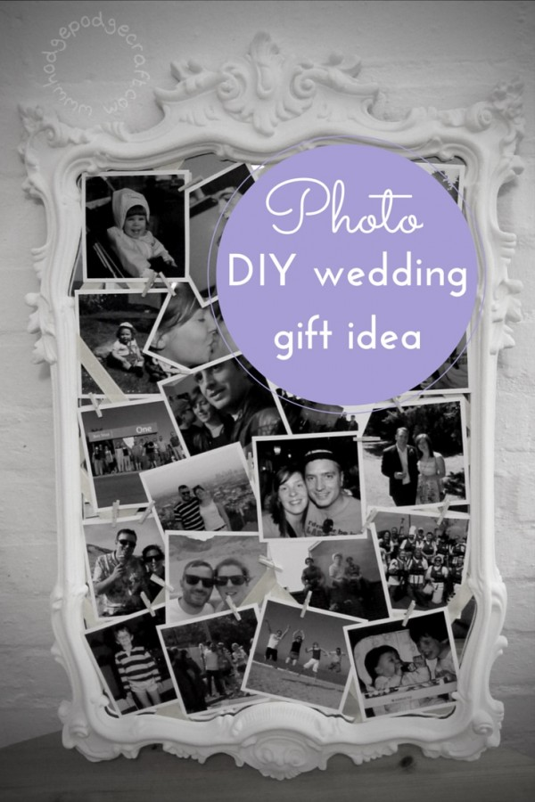 DIY wedding idea photo gift