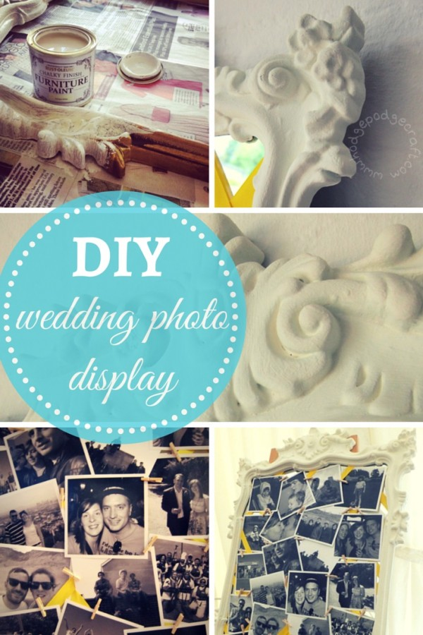 DIY wedding photo display frame