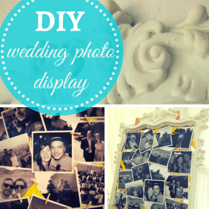 DIY wedding idea: photo display frame
