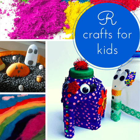 R crafts for kids: recycling, rainbows & rocks