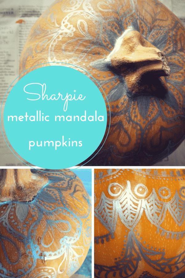 Sharpie mandala pumpkins