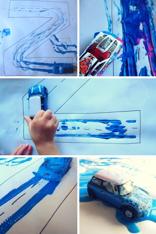 Z is for zoom car art activity