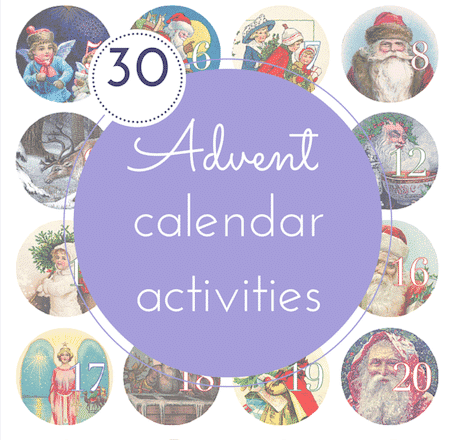 30 fun advent calendar activities