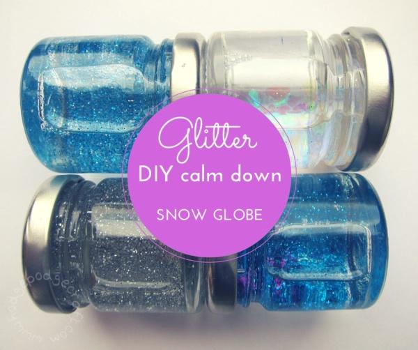 DIY mini glitter calm down jar