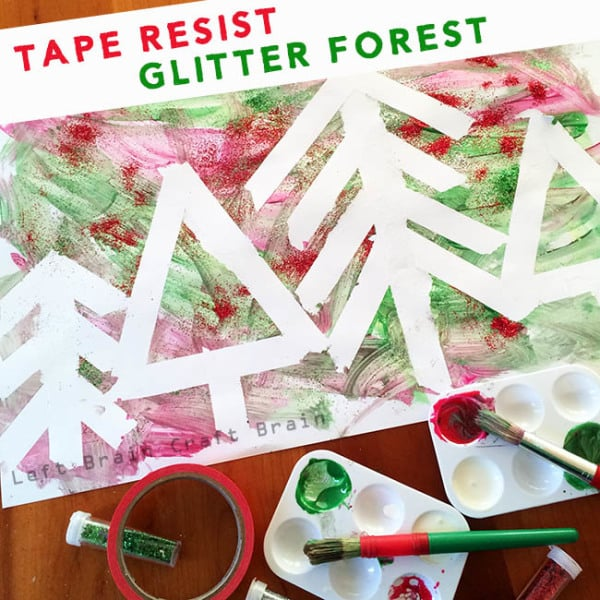Tape-Resist-Glitter-Forest-Left-Brain-Craft-Brain