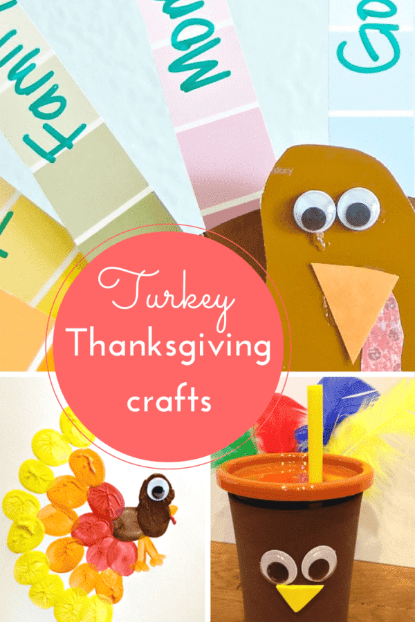 Turkey crafts for Thanksgiving