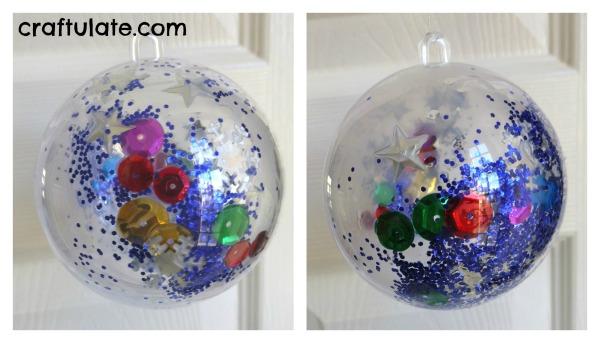 glitter bauble - craftulate