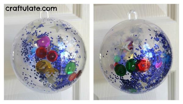 glitter bauble - craftulate