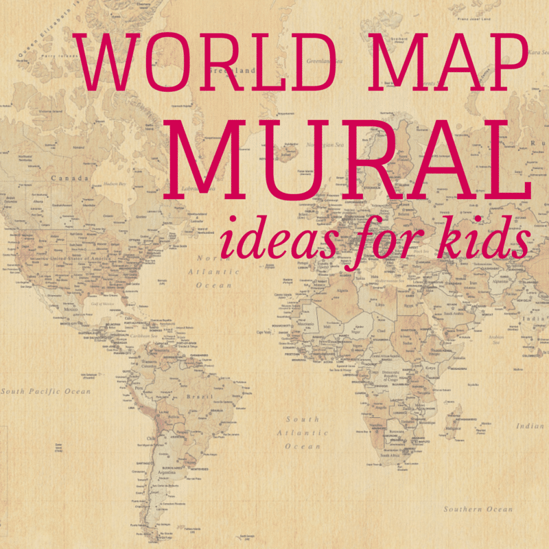 World map mural ideas for kids