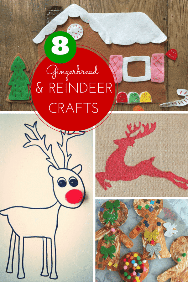 8 gingerbread and reindeer crafts