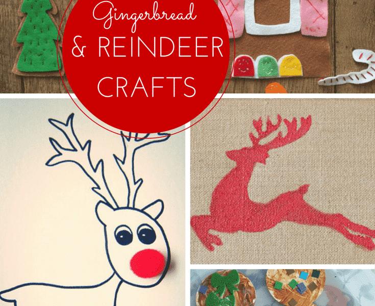 8 gingerbread and reindeer crafts