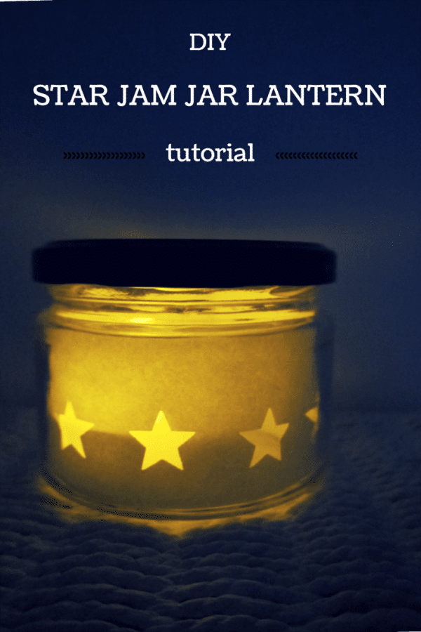 DIY star jam jar lantern tutorial
